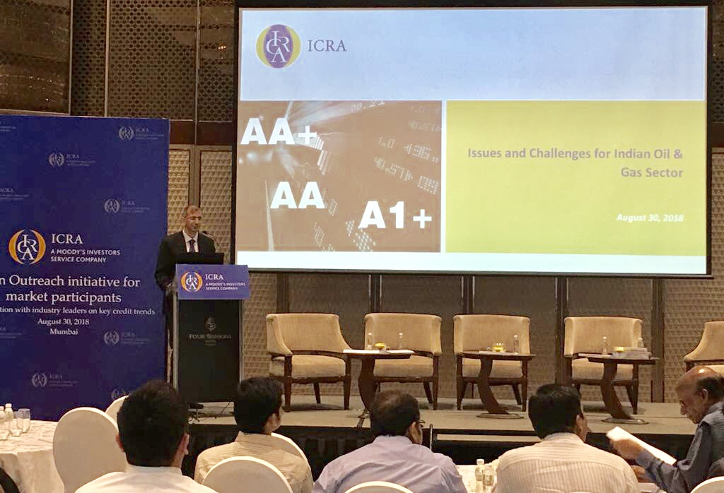 Mr. Prashant Vasisht, Vice President and Co-Head, ICRA presents his views on 'Issues and challenges of Oil & Gas industry in India.'