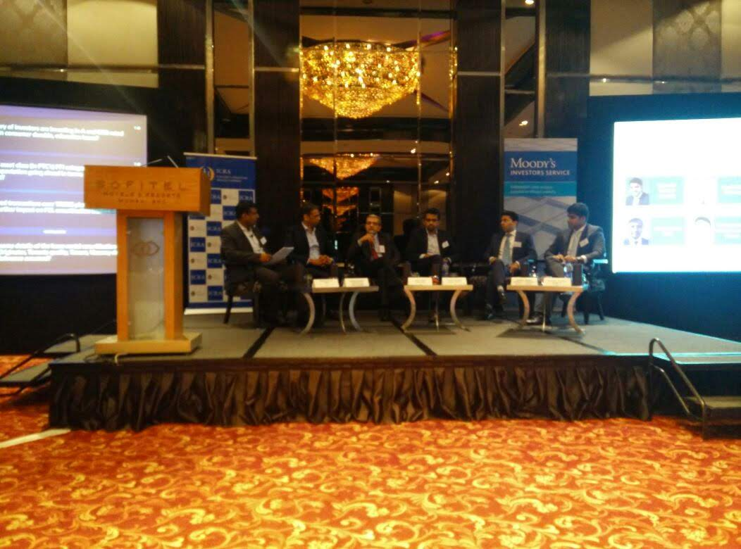 ICRA spokesperson Mr. Vibhor Mittal during a panel discussion at the inaugural Moody's and ICRA India Securitization Conference in Mumbai.