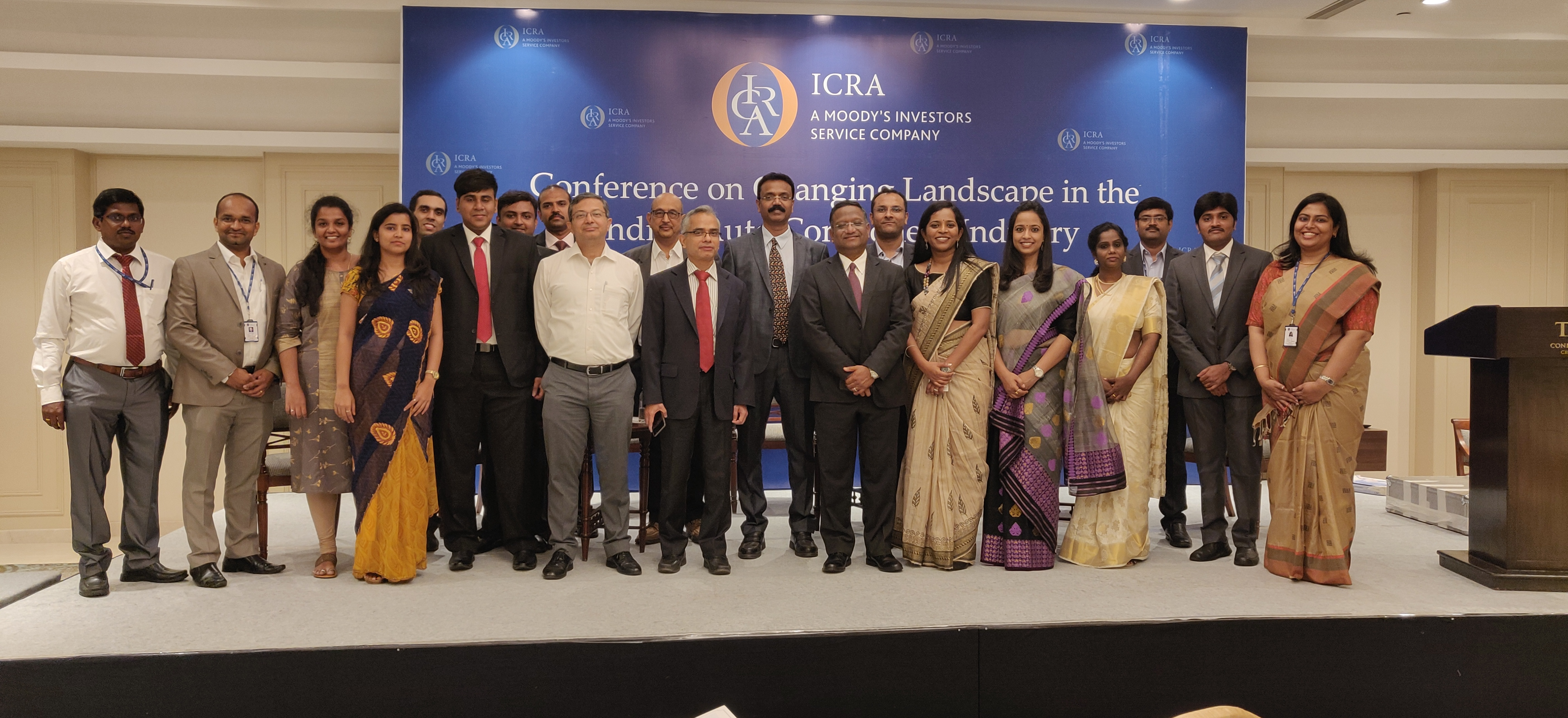 ICRA's Chennai team during the Conference on Indian Auto Component Industry in Taj Connemara