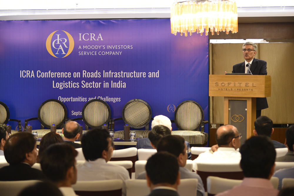 Mr. Anjan Ghosh, Executive Vice President and Chief Ratings Officer, ICRA Limited giving opening remarks at the event