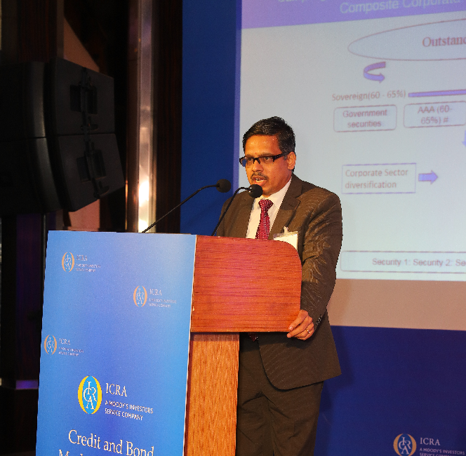 V Sriram, COO, ICRA Management Consulting Services Limited (IMaCS) presenting on market linked fixed income indices