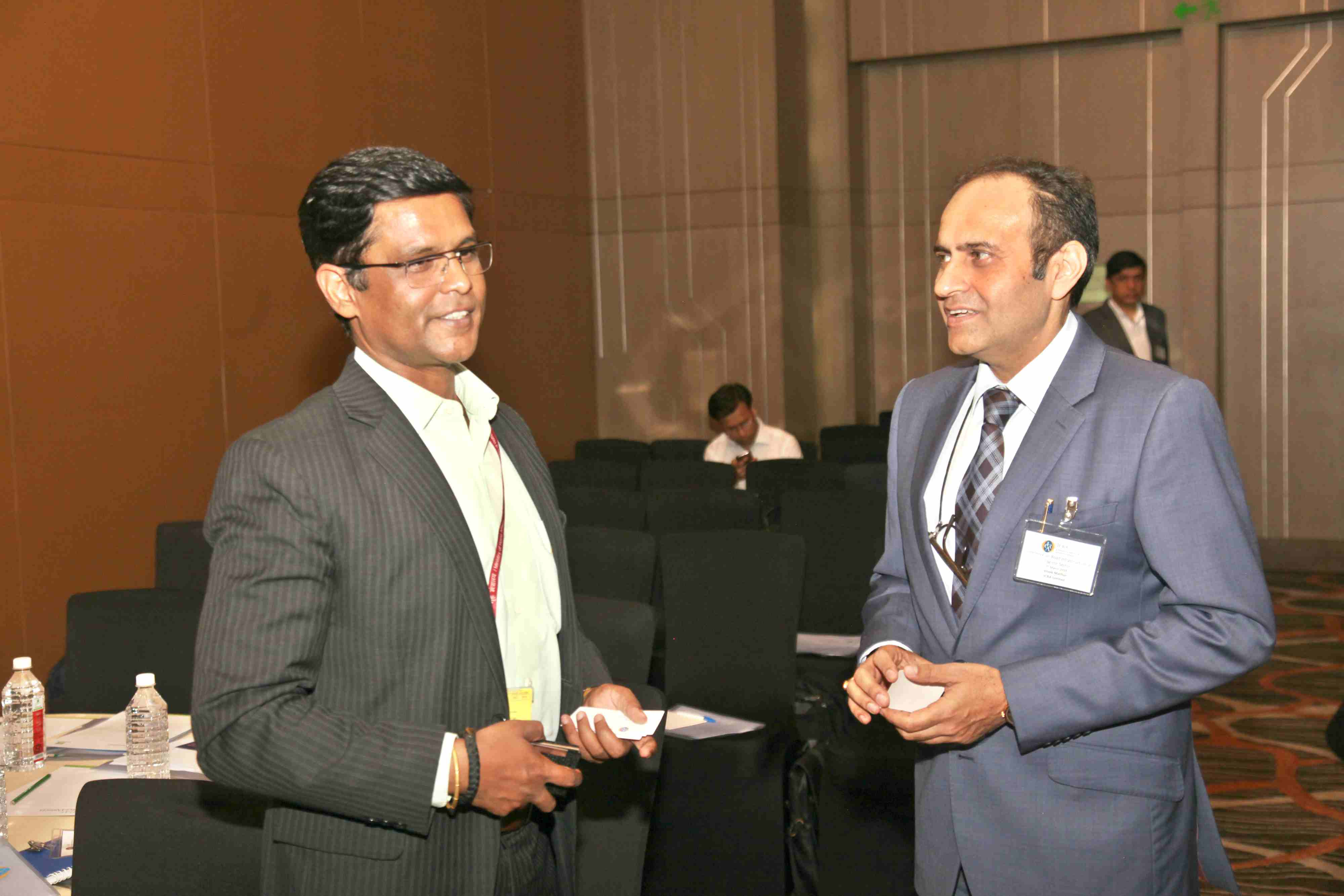 Mr. Keshav Chandra, Joint Secretary (Logistics), Department of Commerce, Ministry of Commerce and Industry, Government of India and Mr. Vivek Mathur, EVP & Head Rating Operations, ICRA sharing a candid moment